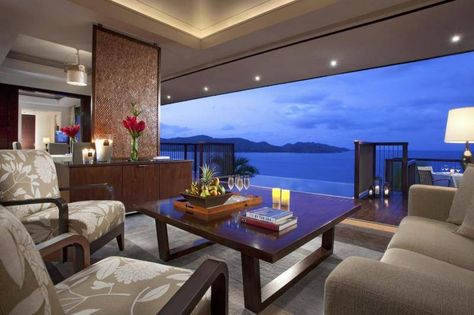 Living Room With Ocean view