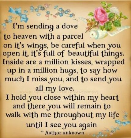 Happy birthday in heaven mom quotes poems i miss you wishes ...