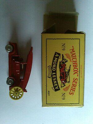 Ad Matchbox Originals Recreations No 9 Fire Engine With Box