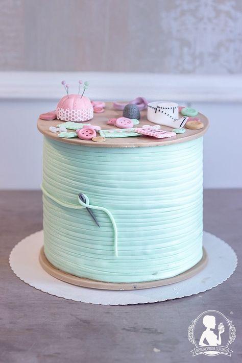 Geburtstagstorte Garnrolle Nahen Stricken Torte Fondant Kuchen Cake Motivtorte Mademoiselle Cupcak Kuchen Mit Fondant Geburtstagstorte Fondant Torte Geburtstag