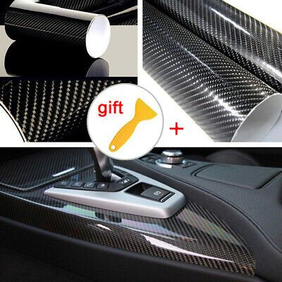 """*60/""""x60/"""" Carbon Fiber Frosted Film Glass Home Bathroom Window Security Privacy"""