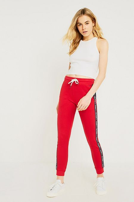 Tommy Hilfiger Taped Track Pants Lounge Wear Womens Loungewear Tommy Hilfiger