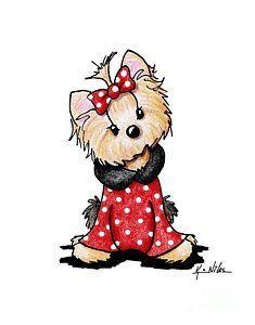 My Yorkie Valentine By Kim Niles Puppy Drawing Yorkie Dog Art