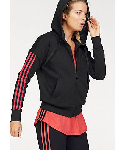 adidas Performance Kapuzensweatjacke »ESSENTIALS 3 STRIPES