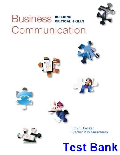 Business Communication Building Critical Skills 6th Edition