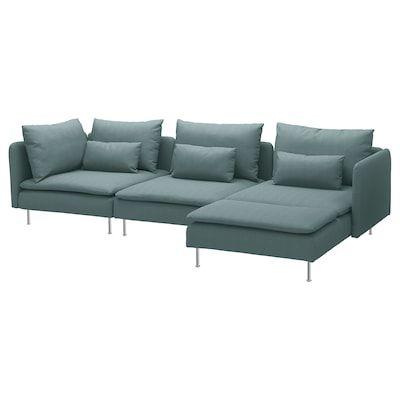 Soderhamn Corner Section Finnsta Turquoise Ikea In 2020 Soderhamn Sofa Recamiere Modul Sofa
