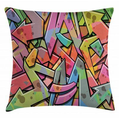 Abstract Indoor Outdoor Throw Pillow