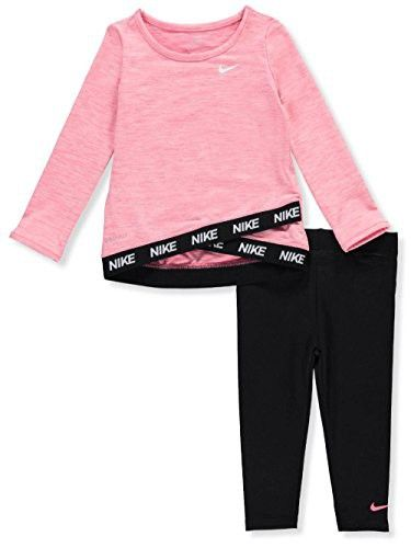 NEW Toddler Girls 2pc Outfit 2T Shirt Pants Stretch Set Workout Athletic Awesome