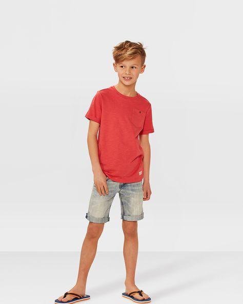 Jongens one pocket t-shirt