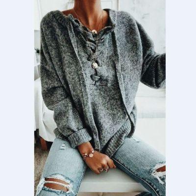 Casual long sleeve loose sweater