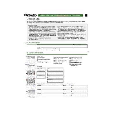 List of deposit slip template images and deposit slip