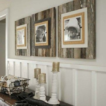 Layered Reclaimed Wood Frames