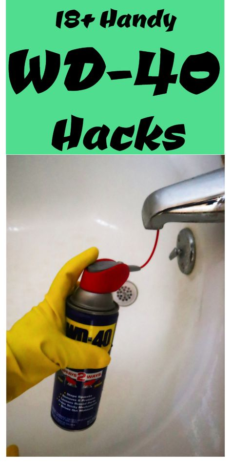 Tips, tricks, and hacks for using WD-40 around your home. #householdtips #householdhacks Diy Home Cleaning, Household Cleaning Tips, House Cleaning Tips, Diy Cleaning Products, Cleaning Hacks, Cleaning Supplies, Spring Cleaning Checklist, Hacks Diy, Car Hacks