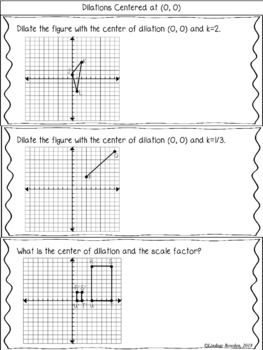 Dilations Guided Notes And Worksheet Guided Notes High School Geometry Notes Geometry Notes