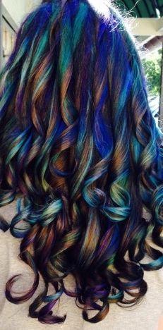 Oil slick hair color hair dye ideas pinterest oil slick hair oil slick hair color solutioingenieria Choice Image