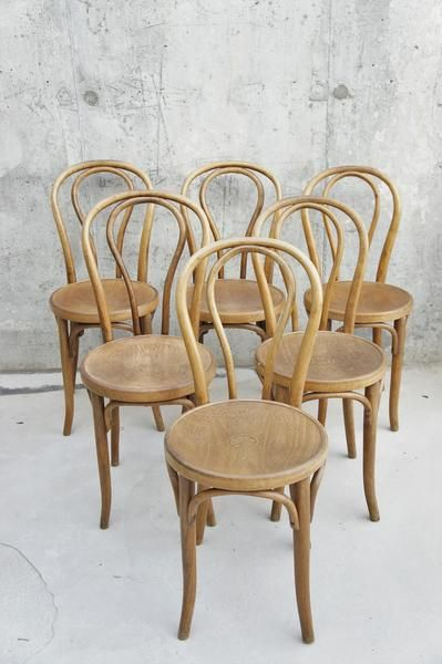 6 Thonet Style Bentwood Bistro Chairs Bistro Chairs Plastic Patio Chairs Wood Patio Furniture