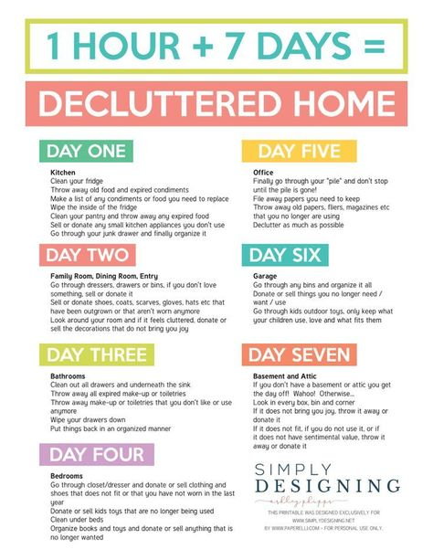 Organization Ideas housekeeping 7 Days to a Decluttered Home Printable Final.pdf 7 Days to a Decluttered Home Printable Final.pdf 7 Days to a Decluttered Home Printable Final.pdf 7 Days to a Decluttered Home Printable Final.