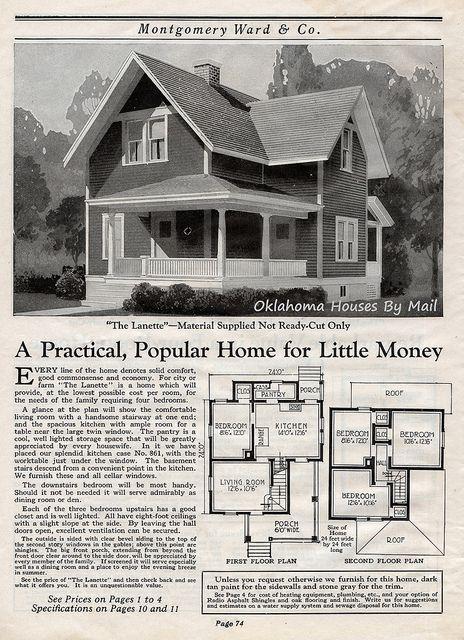Wardway 1923 Pg74 Sims House Plans Craftsman House Plans Farmhouse Plans