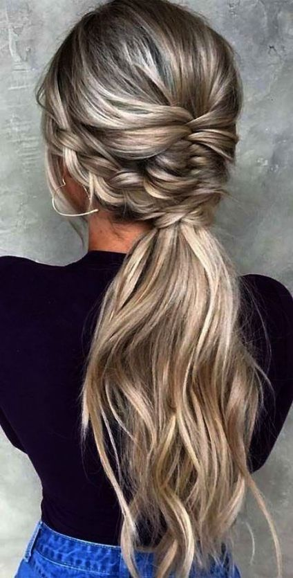 Super Wedding Hairstyles For Bridesmaids Ponytail Beautiful Ideas Braids For Long Hair Long Hair Wedding Styles Bridesmaid Ponytail
