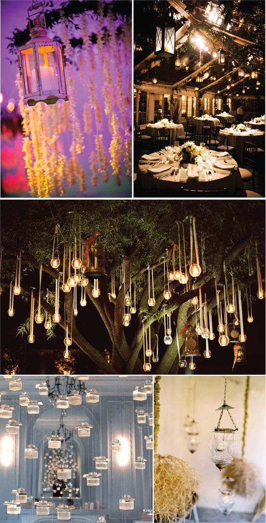 great blogpost about hanging wedding decor