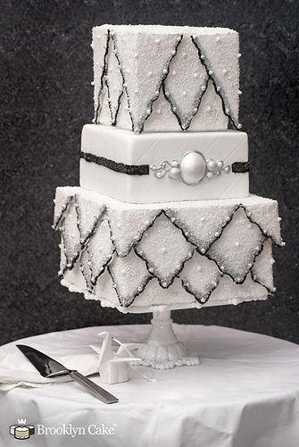 Sparkling_wedding_cake by brooklyncake, via Flickr