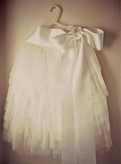 diy tiered tulle skirt.