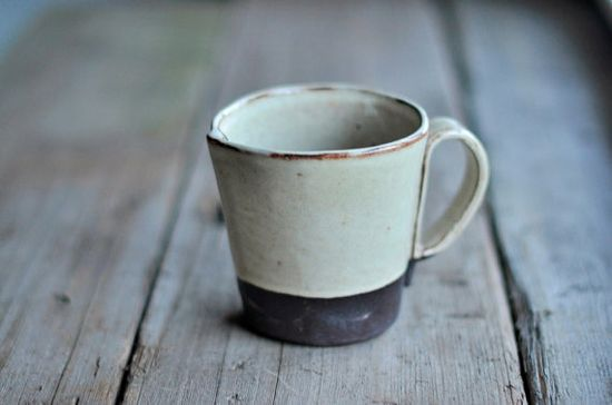 Rustic Handbuilt Mugs  Available in 4 Colors by JustWork on Etsy, $20.00