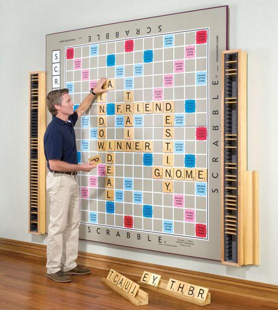 Giant Scrabble board from Hammacher-Schlemmer.