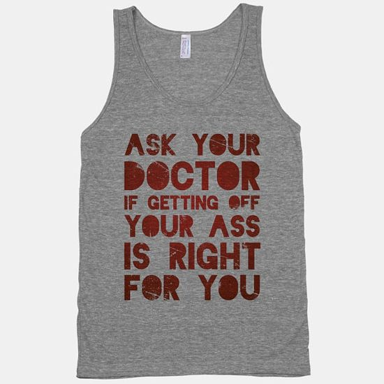 #doctor #vintage #workout #exercise #fitness #tee #tank #red #sassy #funny