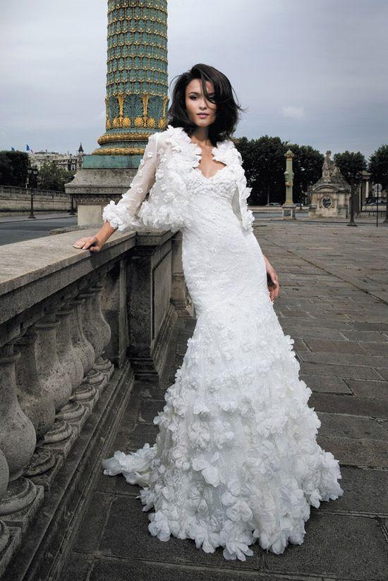 Ruffles wedding dress #weddingdress