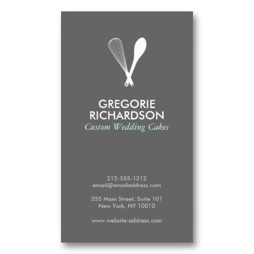 Customizable Business Card for Catering or Bakery