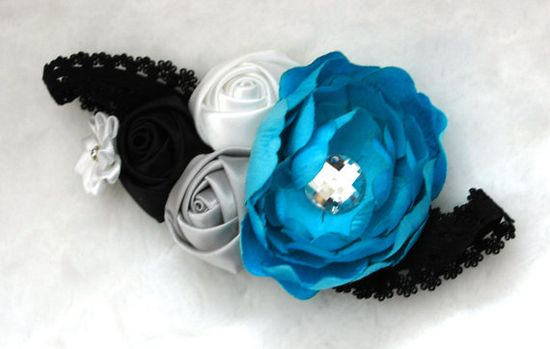 Handmade flower headband Made to order. by TheChicJunktique