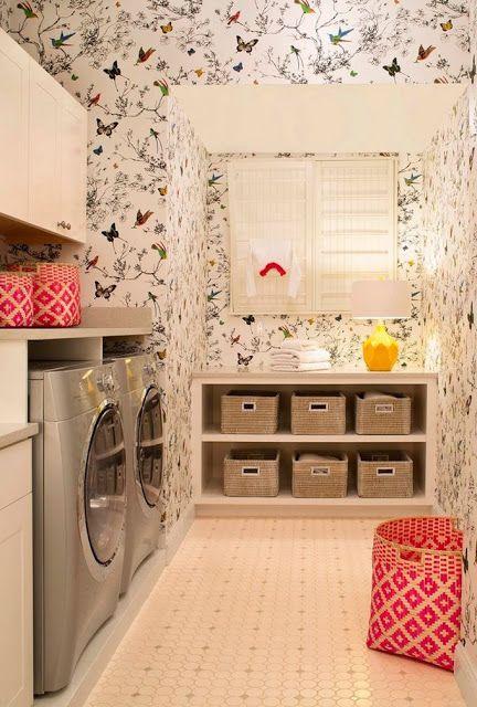 laundry room design - diff wallpaper