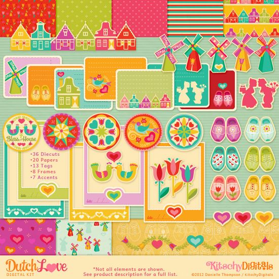 My Netherlands inspired digital & printable kit available at Kitschy Digital