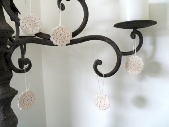 love these so much!  Made from vintage doilies.
