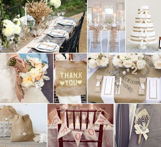 Burlap & Lace wedding