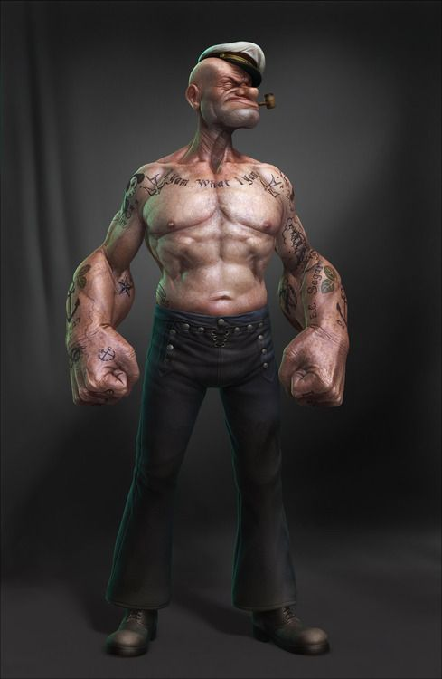 Popeye the angry man