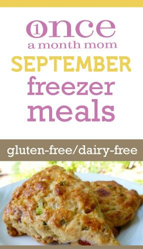 Freezer cooking menu for those needing Gluten Free and Dairy Free #celiacs