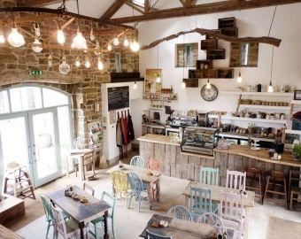 Beautiful cafe interior