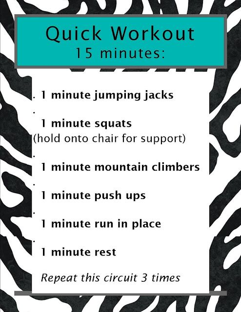 Quick Workout, 15 Minutes!!!!!!!!
