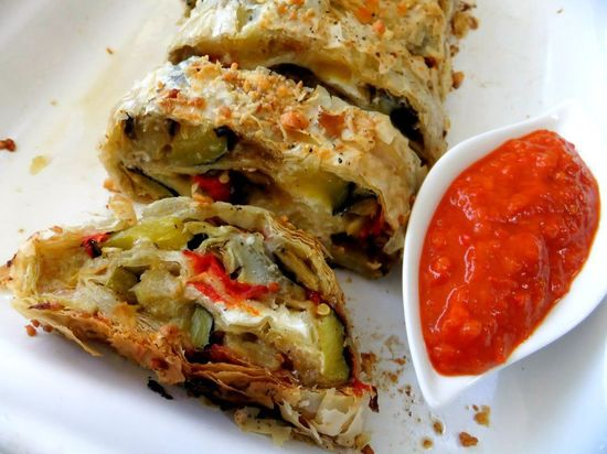 PROUD ITALIAN COOK: Roasted Vegetable Strudel and A Farewell to the Garden