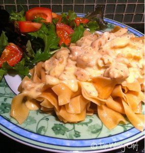 Dump and Go Chicken Stroganoff - The easiest dinner you'll ever make, this simple chicken recipe is so yummy, you won't believe how simple the instructions are!  Find out how to make chicken stroganoff in your slow cooker here...