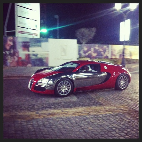 Red and Chrome Bugatti! YES PLEASE!