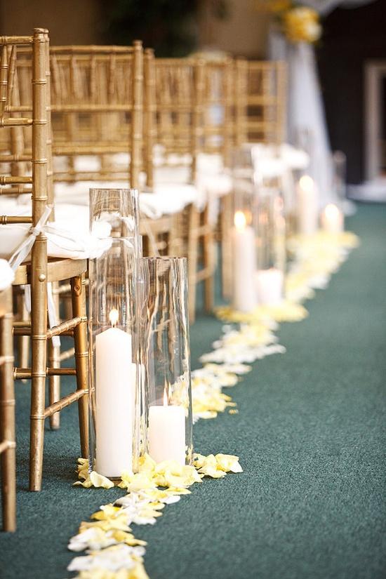 pretty aisle decor.