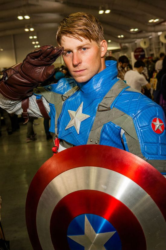 Captain America Cosplay — That's a pretty good one. Could've worn the b