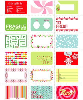 Downloadable gift tags.