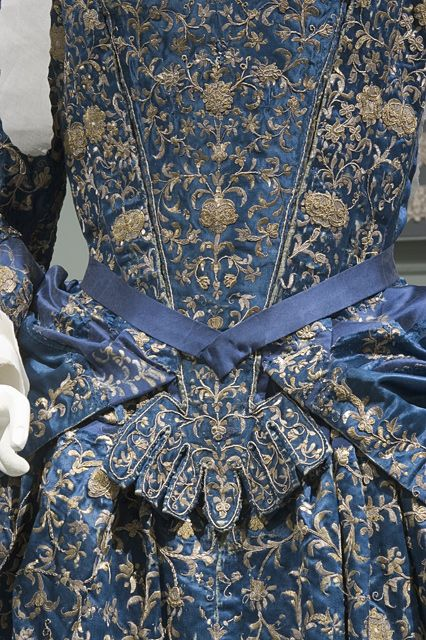 Detail: Mantua, Stomacher and petticoat, Italy, 1700. LACMA Collections Online