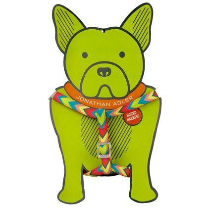 Chevron Dog Harness by Jonathan Adler: Available in 4 patterns. $16 #Dog_Harness #Jonathan_Adler