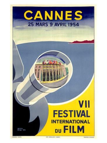 Vintage Poster - Cannes Film Festival 1954