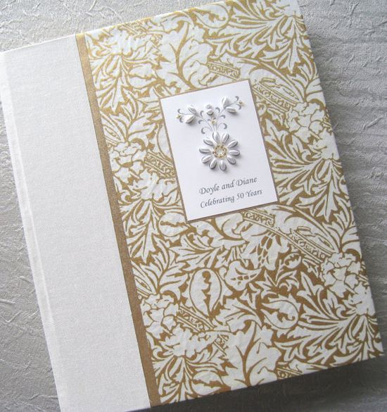 Wedding Photo Album Beaded Ivory and Gold Ornate with by Daisyblu, $60.00